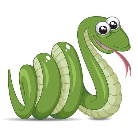 Snake op een witte achtergrond Vector Illustratie