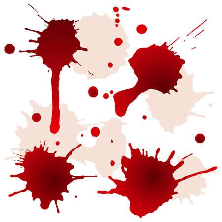spilled: Splattered blood stains, vector illustration