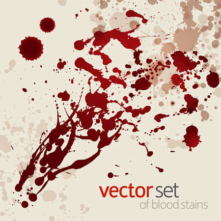 Splattered blood stains,  background Vector