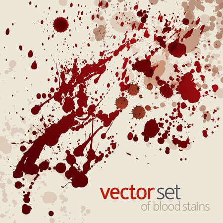 dripped: Splattered blood stains, background Illustration