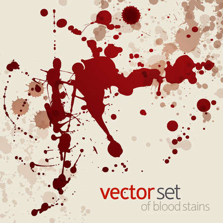 Splattered blood stains,background Vector