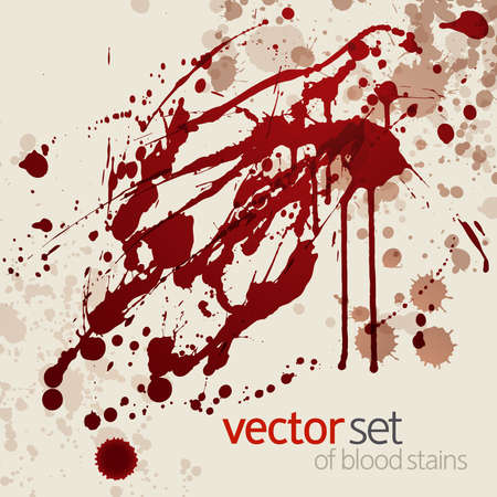 Splattered blood stains, vector background 矢量图像