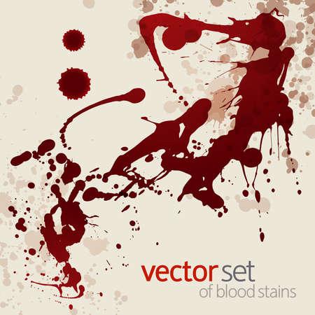 Splattered blood stains, background  イラスト・ベクター素材