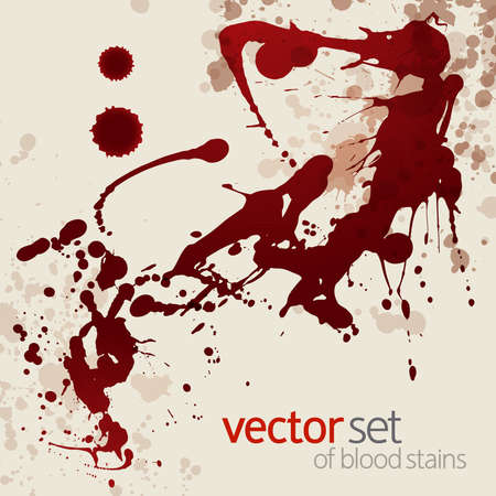 blot: Splattered blood stains, background Illustration