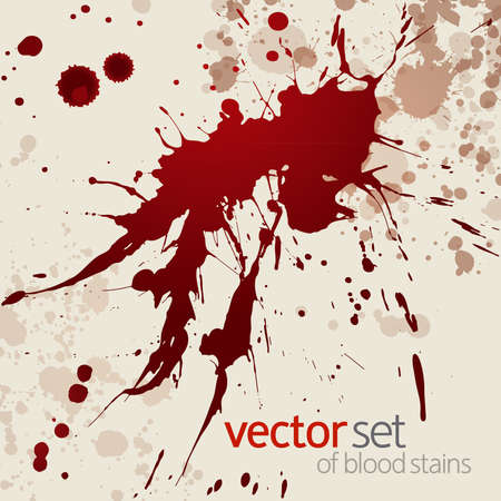 soiled: Splattered blood stains, background Illustration