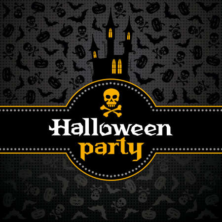 Halloween card with a stylish background Stock Vector - 15518829