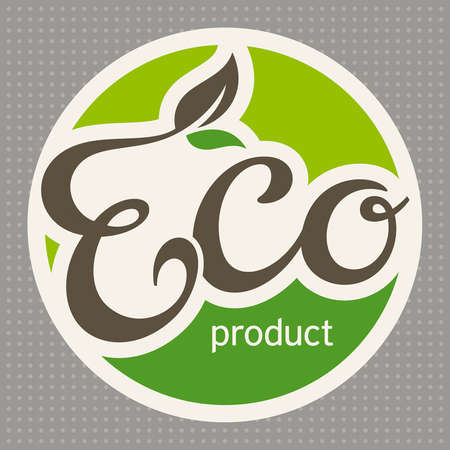 Eco label, vector illustration
