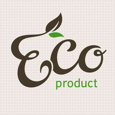 Eco product lettering, illustration Vector