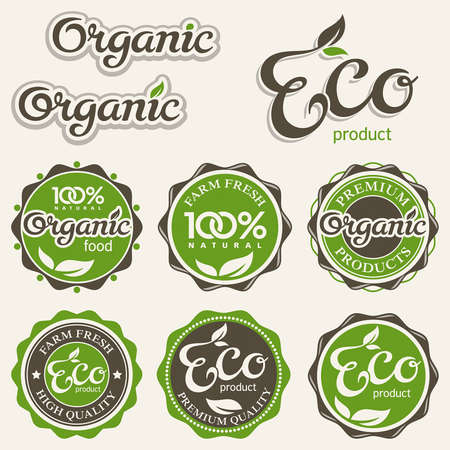 Set of eco labels
