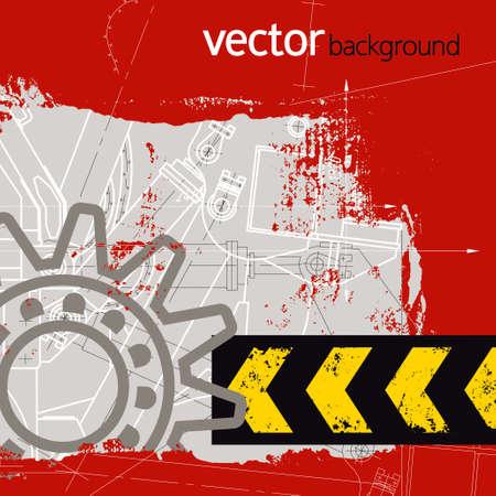 Grunge technology background, vector illustration Illustration