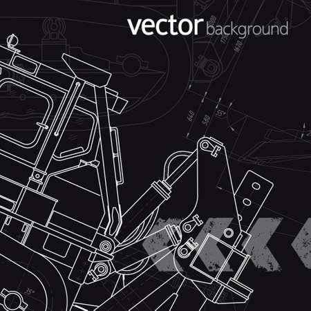 Technology background, vector illustration, version 1