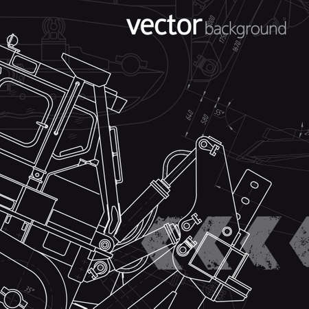 Technology background, vector illustration, version 1