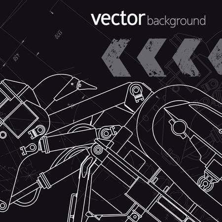 Technology background, vector illustration, version 3