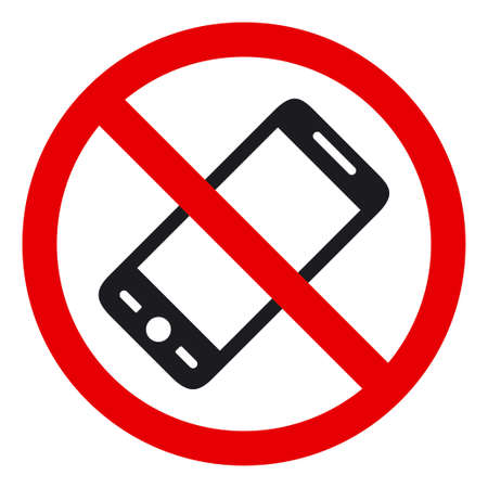 no label: No phone sign, illustration Illustration