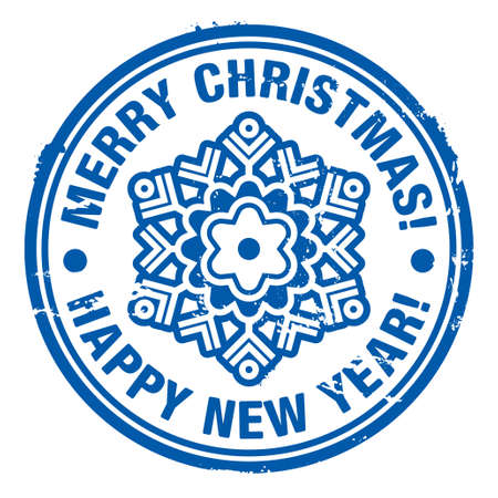 Grunge rubber Christmas stamp