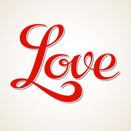 Love hand lettering, calligraphy inscription Vector