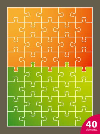 40: puzzle, 40 elements