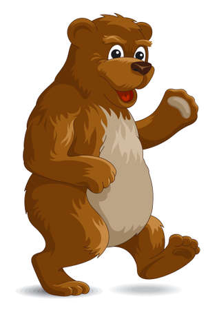 Cute bear, vector illustration Vector
