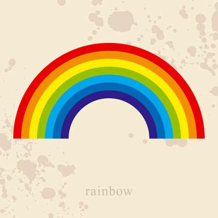 arco iris vector: Rainbow, ilustraci�n vectorial Vectores