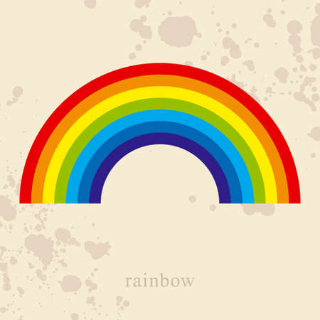 Rainbow, vector illustration Stock Vector - 17880383