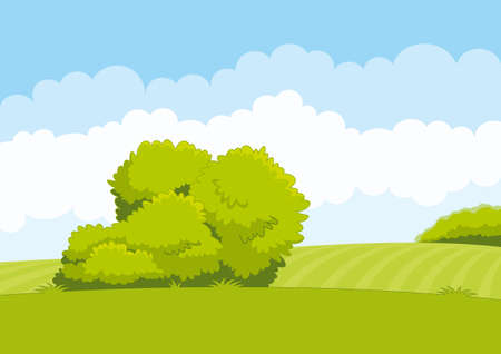 Green landscape, vector illustration Illustration