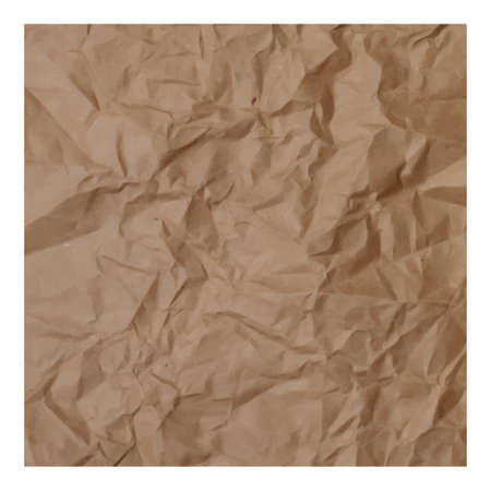 Texture of crumpled paper, realistic vector illustration