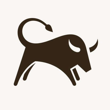 Bull, abstract vector illustration