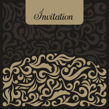 Invitation in Vintage Style, illustration