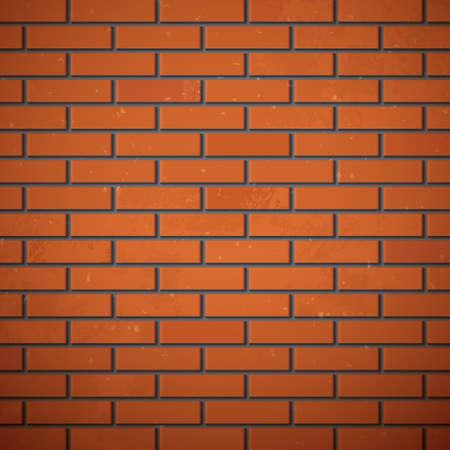 cracked wall: Brick wall, illustration Illustration