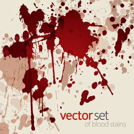 Blood stains, vector illustration