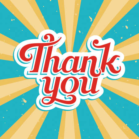 Thank You, vector illustration in old style