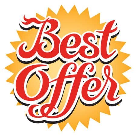 Best offer sticker, illustration
