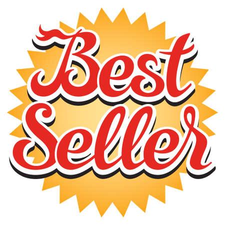 Best seller sticker, illustration