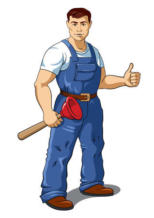Plumber illustration Illustration