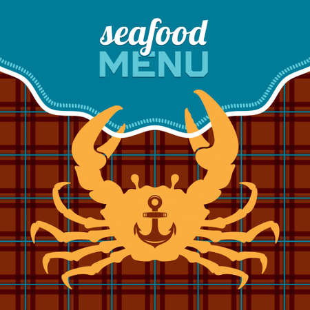 Seafood menu, vector illustration