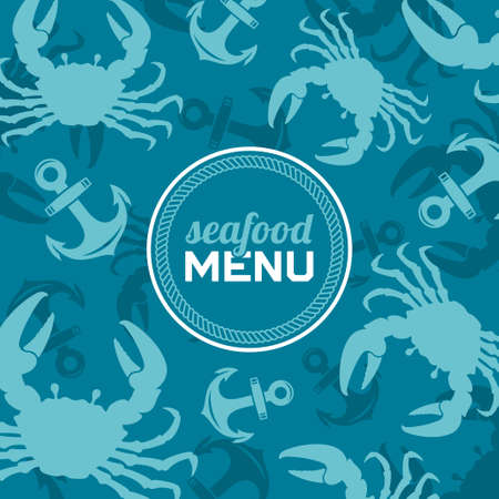 Seafood menu, vector illustration Vector