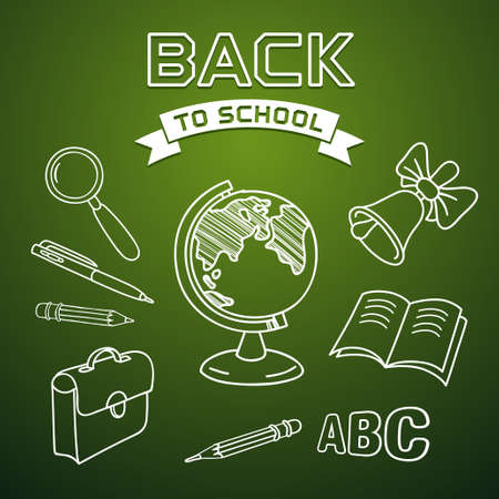 Welcome back to school, vector illustration Vector