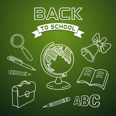satchel: Welcome back to school, vector illustration