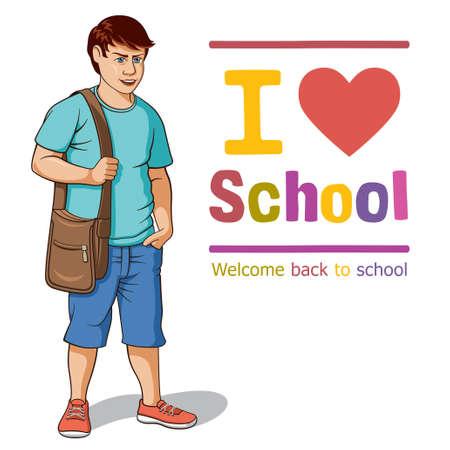 Vector illustration of a teenager Illustration