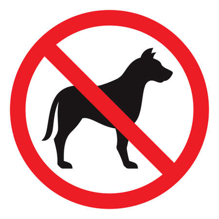 no entry sign: No dog sign, vector illustration