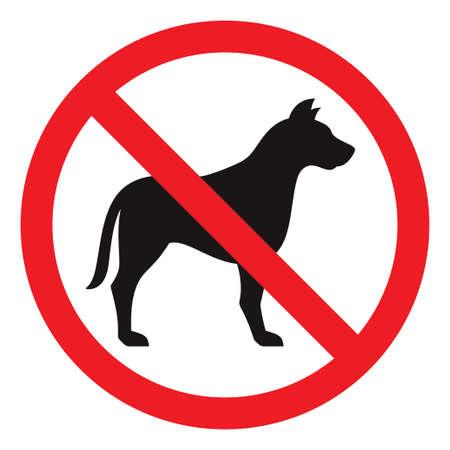 unlawful: No hay se�ales del perro, ilustraci�n vectorial