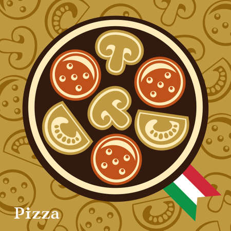 Pizza design template Illustration
