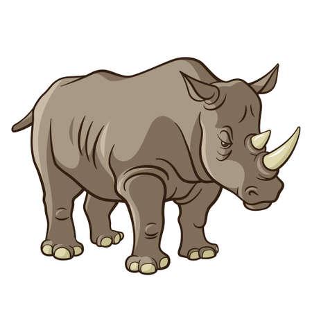 Rhino, ilustración vectorial Ilustración de vector