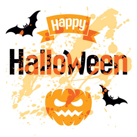 halloween greetings: Happy Halloween, abstract illustration