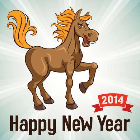 New Year card, vector illustration Vector