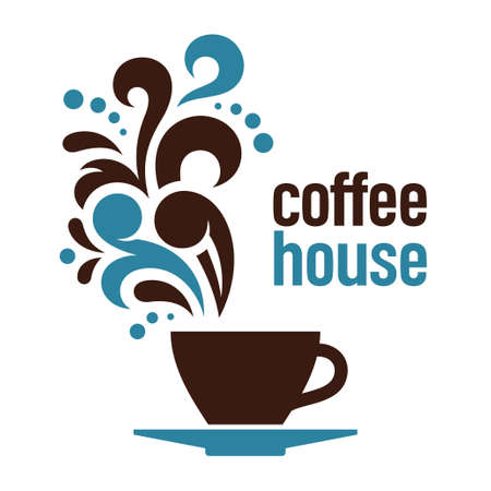maker: Coffee house, abstract vector illustration Illustration