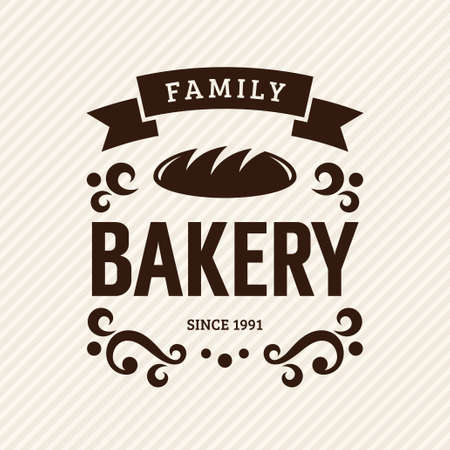 Vintage bakery label, vector illustration Vector