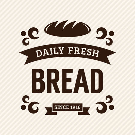 Bread, vintage bakery label Vector