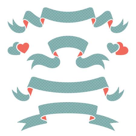 Ribbons, vector illustration for you design