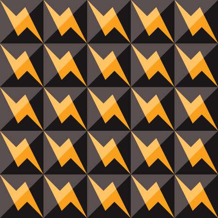 pop art herringbone pattern: Stylish vintage seamless pattern, vector illustration Illustration
